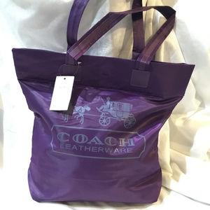 Coach Shopper Tote Nylon Shoulder Daily Bag NEW